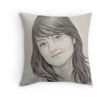 Portrait of my sister Throw Pillow