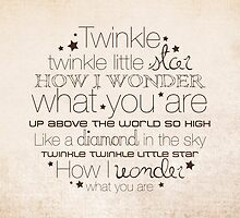 Twinkle Twinkle – 2:3 – Tan  by Janelle Wourms