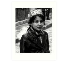 A school girl in Khiva Art Print