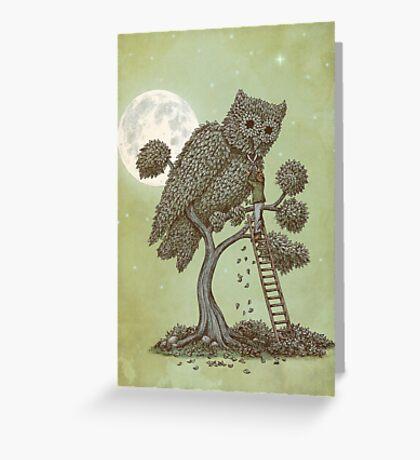 The Night Gardener Greeting Card