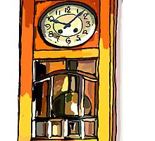Father's Clock ...still life by OlaG