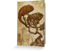Autumn Chameleons Greeting Card