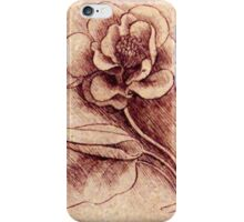 Leonardo's flower drawing iPhone Case/Skin
