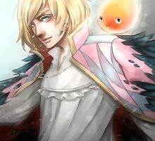 Howl and Calcifer by princefox