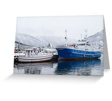Boats in Tromso Greeting Card
