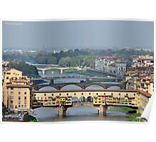 Bridges over the Arno Poster