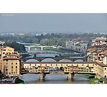 Bridges over the Arno Photographic Print
