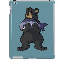 Black Bear's Catch iPad Case/Skin