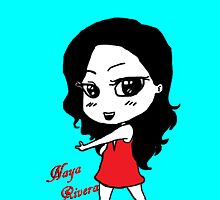 Naya Rivera Chibi (Light Blue) by LexyDC