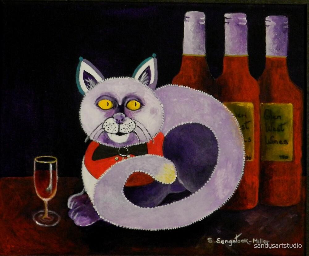 Cat-alocholic bar Cat by sandysartstudio