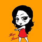 Naya Rivera Chibi (Orange) by LexyDC