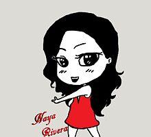 Naya Rivera Chibi (Silver) by LexyDC
