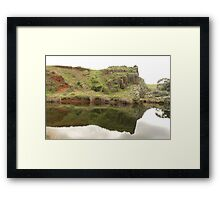 Totally reflected, AppilaSprings,Southern Flinders, South Australia. Framed Print
