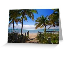 Smathers Beach, Key West Greeting Card