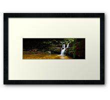 Terrance Falls, Hazelbrook, Blue Mountains, New South Wales, Australia Framed Print