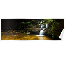 Terrance Falls, Hazelbrook, Blue Mountains, New South Wales, Australia Poster