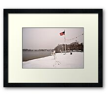 Old Glory in the Snow Framed Print