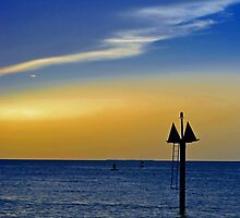 Sunset on the Key West bight by Noah Browning