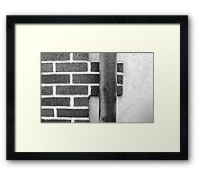 Brick and Pipe Framed Print