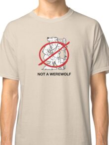 Hippie-Wolves are Not Werewolves Classic T-Shirt