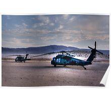 Desert Blackhawks Poster