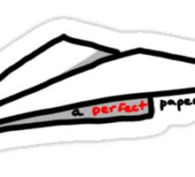A Perfect Paper Airplane Sticker