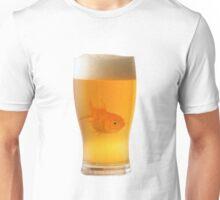Goldfish in beer Unisex T-Shirt