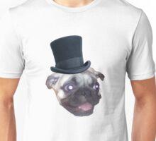 Top Hat Pug Unisex T-Shirt