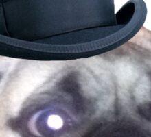 Top Hat Pug Sticker