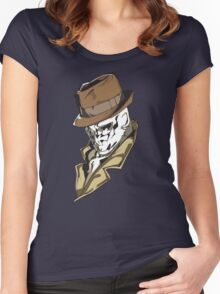 Rorschach bust Women's Fitted Scoop T-Shirt