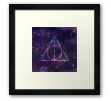 Deathly Hallows in Space Framed Print