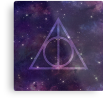 Deathly Hallows in Space Metal Print