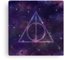 Deathly Hallows in Space Canvas Print