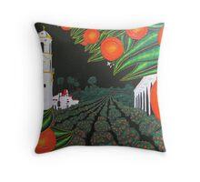 Parade of Oranges 2 Throw Pillow