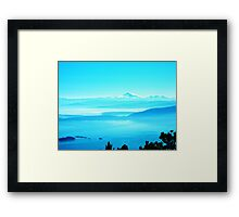 View from Mt. Constitution Framed Print