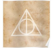 Deathly Hallows on Parchment Poster
