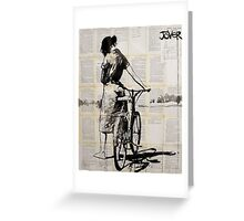 her bicycle ...... (was her favorite thing) Greeting Card