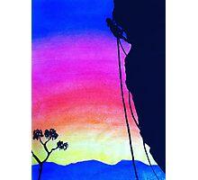 Sunset Rock-Climbing Photographic Print