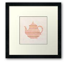 The Peach Teapot Framed Print