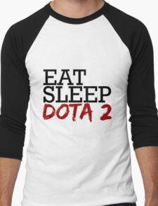 eat, sleep, dota 2 Men's Baseball ¾ T-Shirt