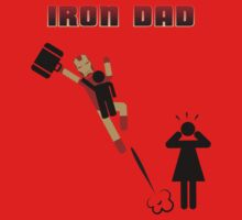 Iron Dad flying One Piece - Short Sleeve