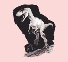 Sprinting Gorgosaurus libratus (Sepia) Kids Tee