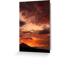 red sunrise print Greeting Card
