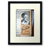 """Day 180   365 Day Creative Project  """"Gracie Fields"""" Framed Print"""