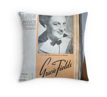 "Day 180 | 365 Day Creative Project  ""Gracie Fields"" Throw Pillow"