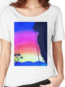 Sunset Rock-Climbing Women's Relaxed Fit T-Shirt