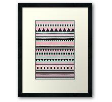 Pastel Aztec Pattern Framed Print