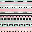Pastel Aztec Pattern by hannahison