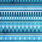 Blue Aztec Pattern by hannahison