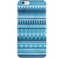 Blue Aztec Pattern iPhone Case/Skin